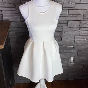 Boohoo White Fit and Flare Dress 0